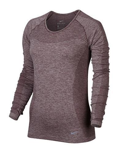 Nike Dri-Fit Long Sleeve Top-PURPLE-X-Small 88783526_PURPLE_X-Small