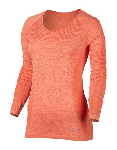 Nike Dri-FIT Knit Long Sleeve Top-ORANGE-X-Large 88821784_ORANGE_X-Large