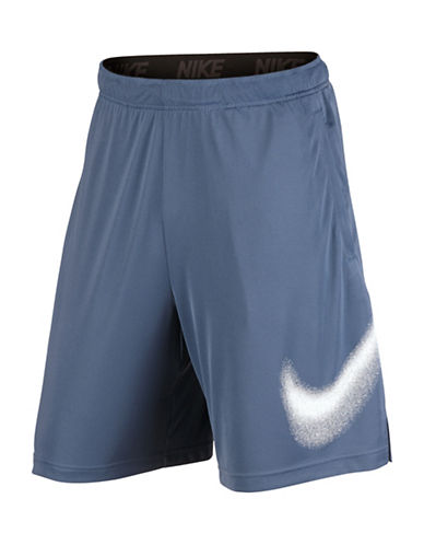 Nike Solid Training Shorts-BLUE-Medium 88856240_BLUE_Medium