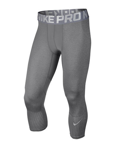 Nike Pro Hypercool Max Three-Quarter Tights-CARBON HEATHER-XX-Large