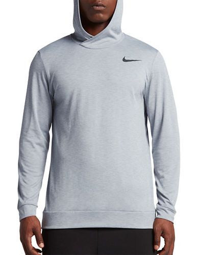 Nike Breathe Training Hoodie-GREY-Large