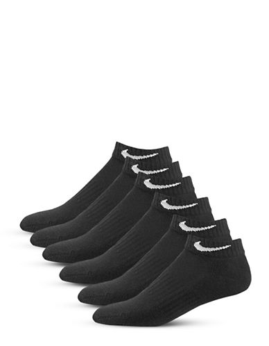 Nike Six-Pack Cushioned Low-Cut Socks-BLACK/WHITE-Medium 88773847_BLACK/WHITE_Medium