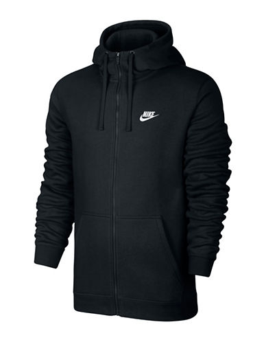 Nike Sportswear Zip-Up Hoodie-BLACK-Large