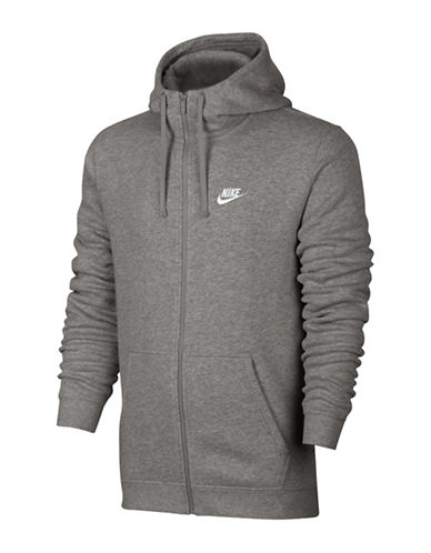 Nike Sportswear Zip-Up Hoodie-GREY-Small