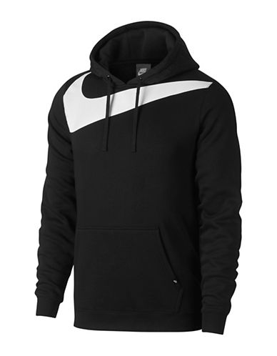 Nike Fleece Hybrid Hoodie-BLACK-Small 89690792_BLACK_Small