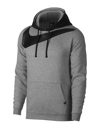 Nike Fleece Hybrid Hoodie-GREY-Large 89690801_GREY_Large