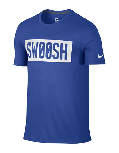 Nike Mesh Swoosh Block Training T-Shirt-BLUE-X-Large 88798150_BLUE_X-Large