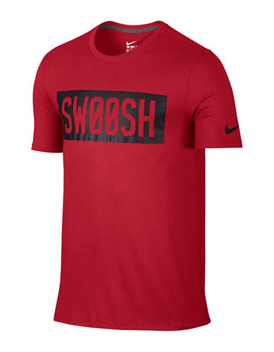 Nike Mesh Swoosh Block Training T-Shirt-RED-Large 88798154_RED_Large