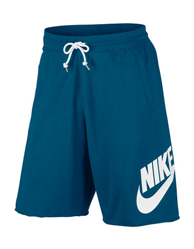 Nike Sportswear Cotton Shorts-BLUE-Medium 89157294_BLUE_Medium