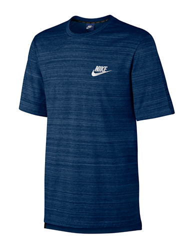 Nike Sportswear Advance Heathered Tee-BLUE-X-Large