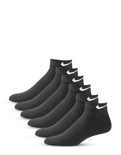 Nike Six-Pair Performance Cotton Low Socks-BLACK-Large
