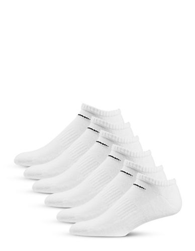 Nike Six-Pair Performance Cotton No-Show Socks-WHITE-Large