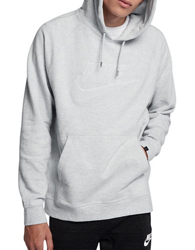 Nike Legacy Cotton Hoodie-SILVER-X-Large
