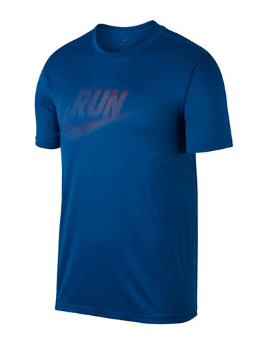 Nike Swoosh Dry Running T-shirt-BLUE-X-Large