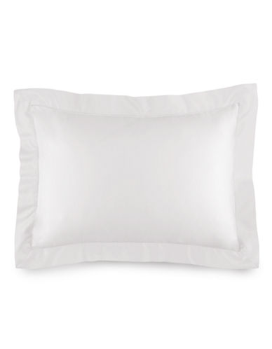 Ralph Lauren 624 Thread-Count Cotton Sateen Standarm Sham-DECO WHITE-Standard