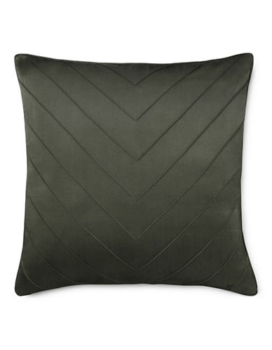 Ralph Lauren Ella Silk-Blend Square Cushion-GREY-One Size