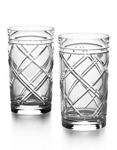 Ralph Lauren Brogan Classic Crystal Highball Set-CLEAR-One Size
