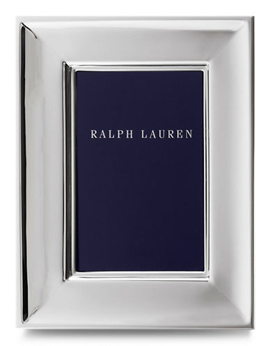 Ralph Lauren Cove 4 x 6 Picture Frame-SILVER-One Size
