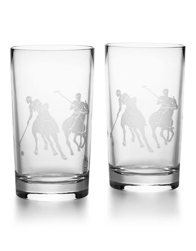 Ralph Lauren Garrett Crystal Highball Set-CLEAR-One Size