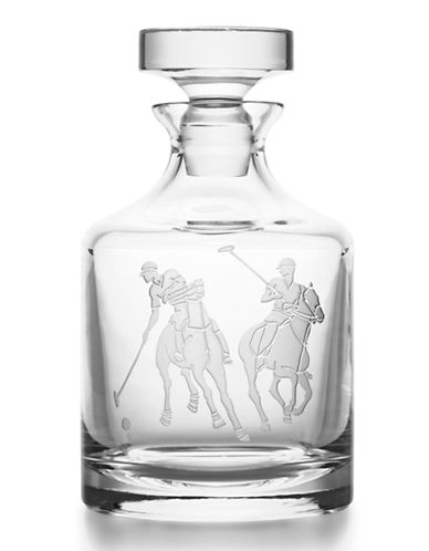 Ralph Lauren Garrett Crystal Decanter-CLEAR-One Size