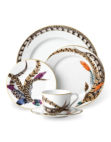 Ralph Lauren Carolyn 5-Piece Dinnerware Set-FEATHER-One Size