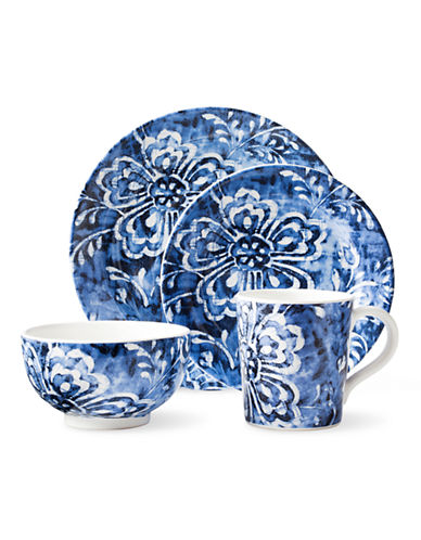 Ralph Lauren Cote d Azur Floral 4-Piece Dinnerware Set-BLUE-One Size