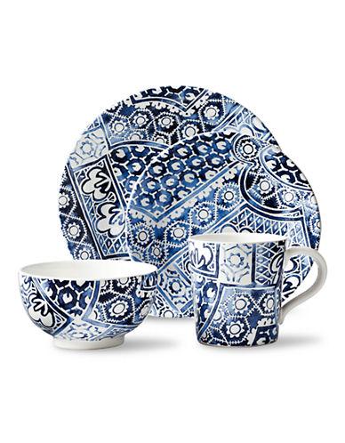 Ralph Lauren Cote d Azur Batik 4-Piece Dinnerware Set-BLUE-One Size