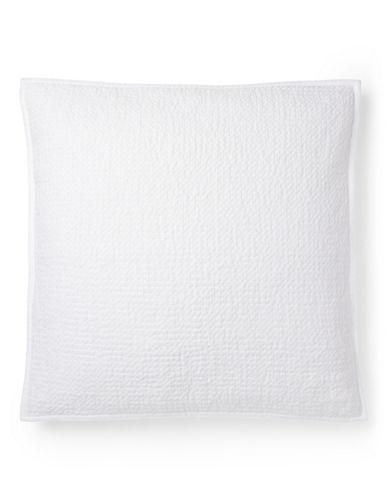 Ralph Lauren Beckett Euro Sham-WHITE-One Size