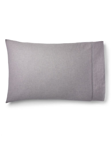 Ralph Lauren Gray Haberdashery Pillowcase-GREY-King