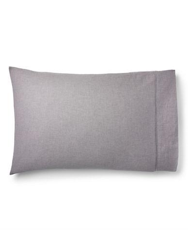 Ralph Lauren Gray Haberdashery Pillowcase-GREY-King