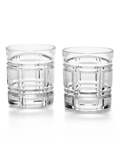 Ralph Lauren Two-Piece Greenwich Double Old-Fashioned Glass Set-CLEAR-One Size