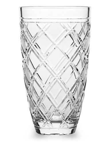 Ralph Lauren Brogan Classic Crystal Vase-CLEAR-Medium