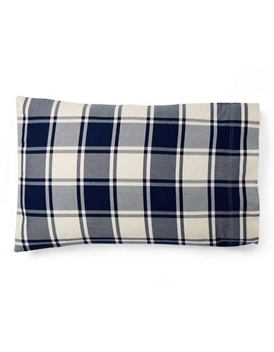 Ralph Lauren Acadia Pillowcase-BLUE/CREAM-King