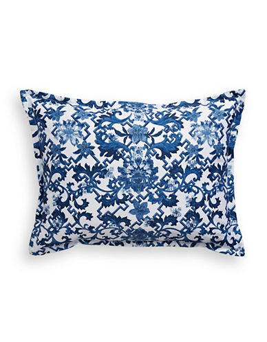 Ralph Lauren Dorsey Printed Damask Cushion-BLUE-15X20