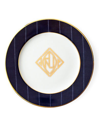 Ralph Lauren Ascot Bread and Butter Plate-NAVY-One Size