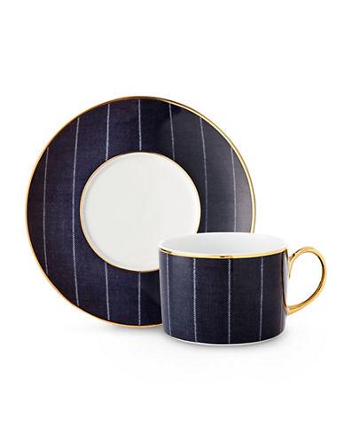 Ralph Lauren Ascot Teacup and Saucer Set-NAVY-One Size