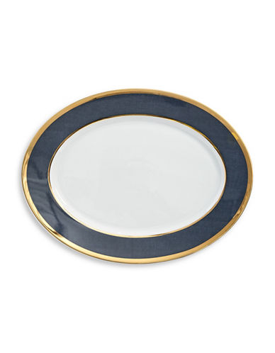 Ralph Lauren Georgia Oval Platter-NAVY-One Size