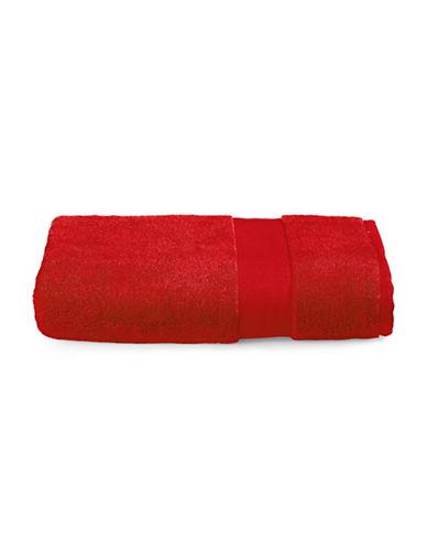 Lauren Ralph Lauren Wescott Cotton Bath Towel-DARK RED-Bath Towel
