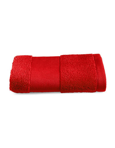 Lauren Ralph Lauren Wescott Cotton Washcloth-DARK RED-Washcloth