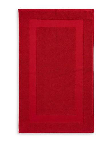 Lauren Ralph Lauren Wescott Cotton Tub Mat-DARK RED-Bath Mat