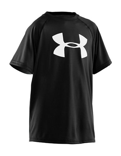 Under Armour Tech Big Logo T-Shirt-BLACK-Medium