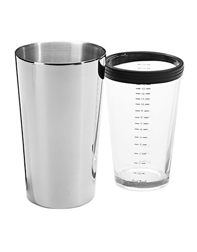 Final Touch 2 Piece Boston Cocktail Shaker-SILVER-One Size