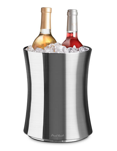 Final Touch Stainless Steel Double Wall 2 Bottle Wine Chiller-STAINLESS STEEL-One Size