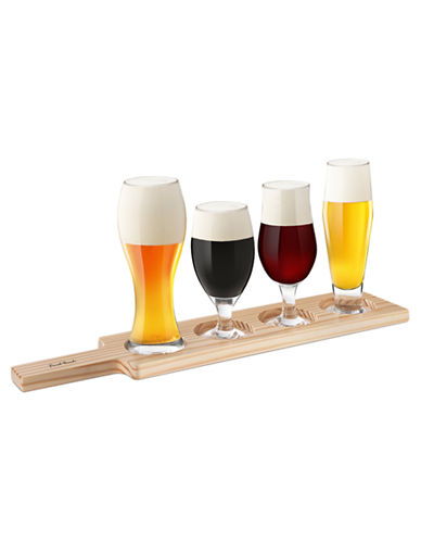 Final Touch Final Touch 6 Piece Beer Tasting Set-WOOD-Assorted
