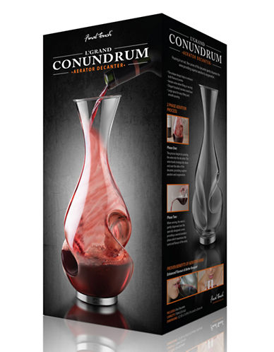 Final Touch 1 Litre Conundrum Decanter-CLEAR-One Size