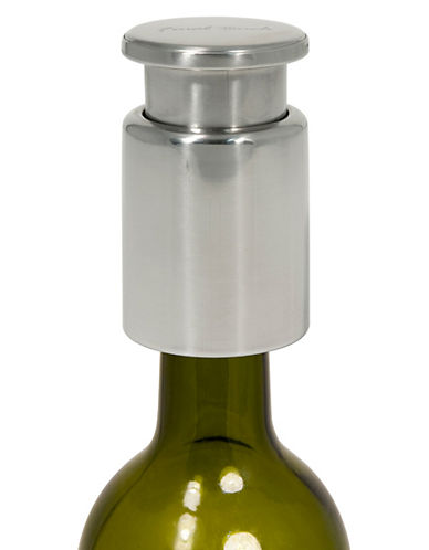 Final Touch Pump Wine Bottle Stopper-SILVER-One Size