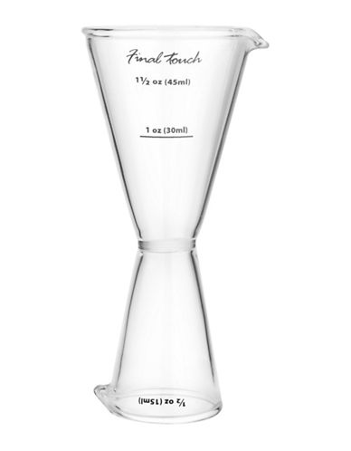 Final Touch Twin Jigger-CLEAR-One Size