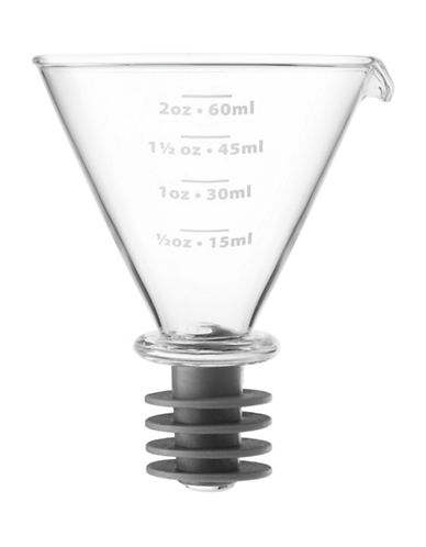 Final Touch Martini Jigger Stopper-CLEAR-One Size
