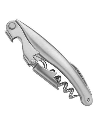 Final Touch Two Step Waiters Corkscrew-STAINLESS STEEL-One Size