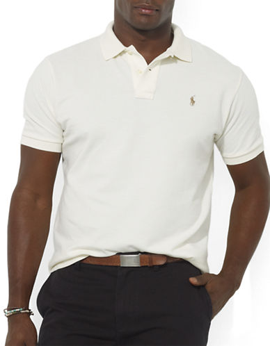 Polo Ralph Lauren Big and Tall Classic-Fit Short-Sleeved Cotton Mesh Polo-CHIC CREAM-4X Big